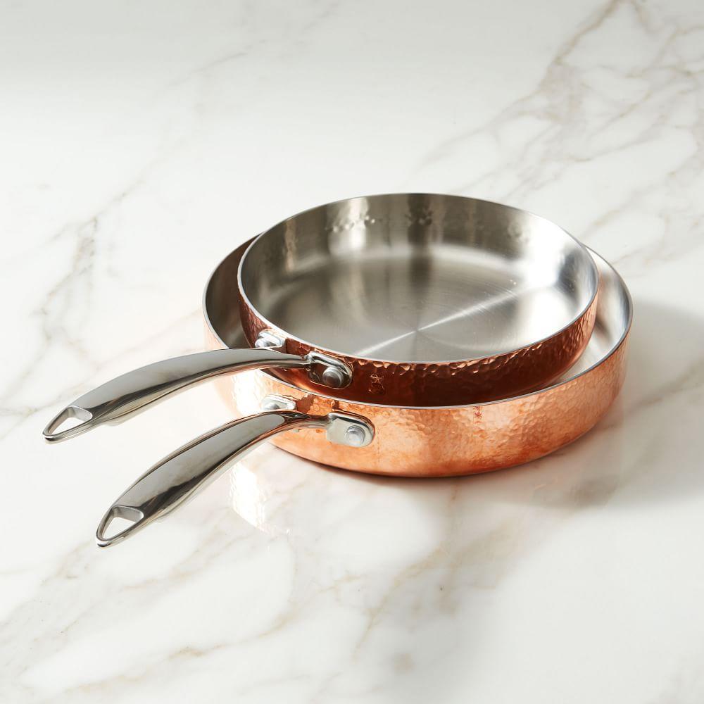 Fleischer and Wolf Seville Copper 2-Piece Tri-Ply Frying Pan Set