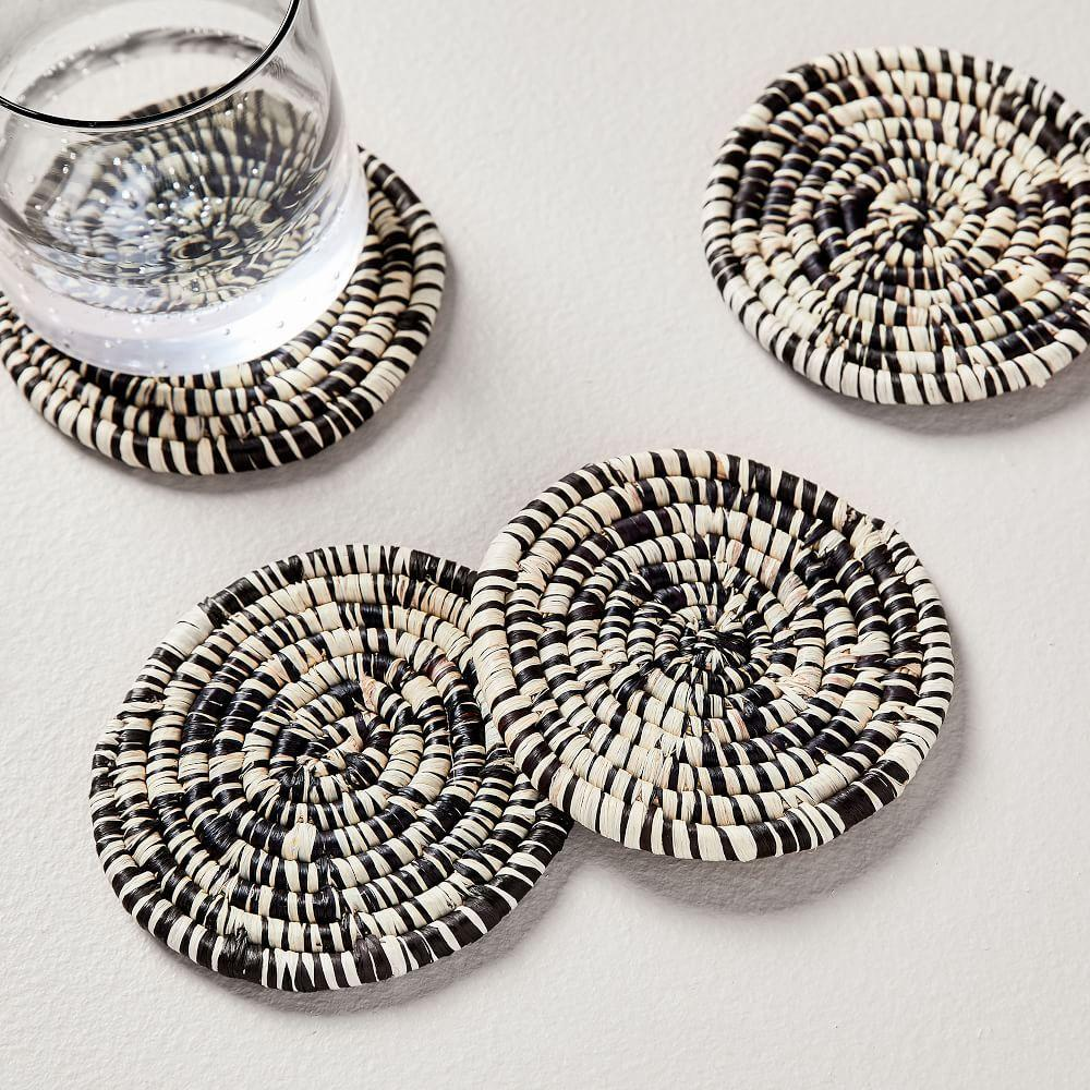 Natural Woven Coasters (Set of 4)
