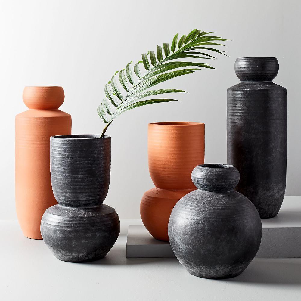 Rounded Terracotta Floor Vases