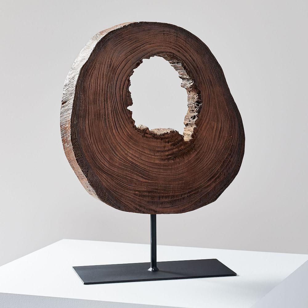 Wood Slice Object on Stand