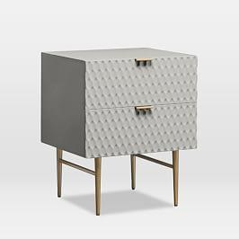 Audrey Bedside Table - Mist Grey