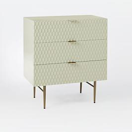 Audrey 3-Drawer Chest - Parchment