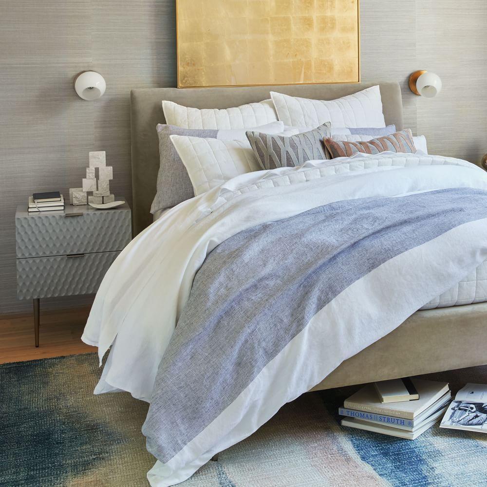 Audrey Bedside Table - Mist Grey