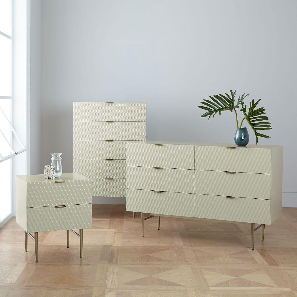 Audrey 6-Drawer Chest - Parchment