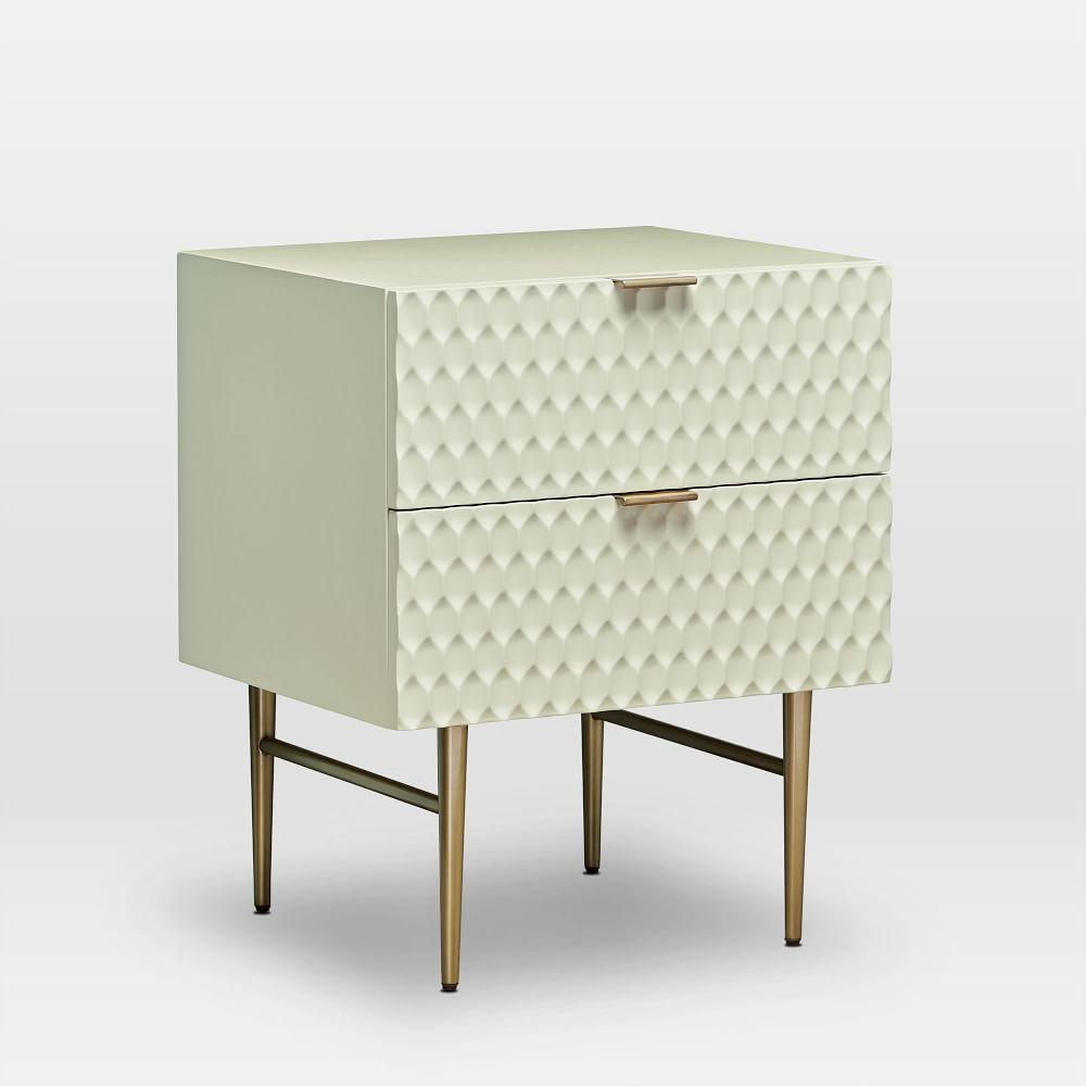 Audrey Bedside Table - Parchment