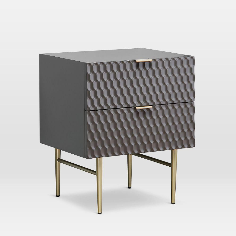 Audrey Bedside Table - Charcoal