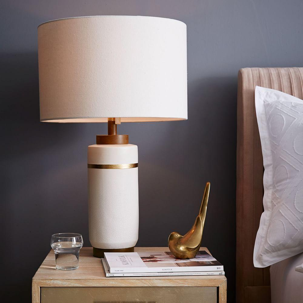 Roar + Rabbit™ Crackle Glaze Ceramic Table Lamp - Large