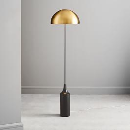 Mid Century Tripod Floor Lamp Antique Brass West Elm Uk