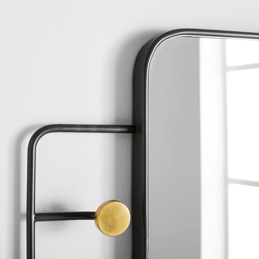 Sculptural Hook Wall Mirror - Rectangle