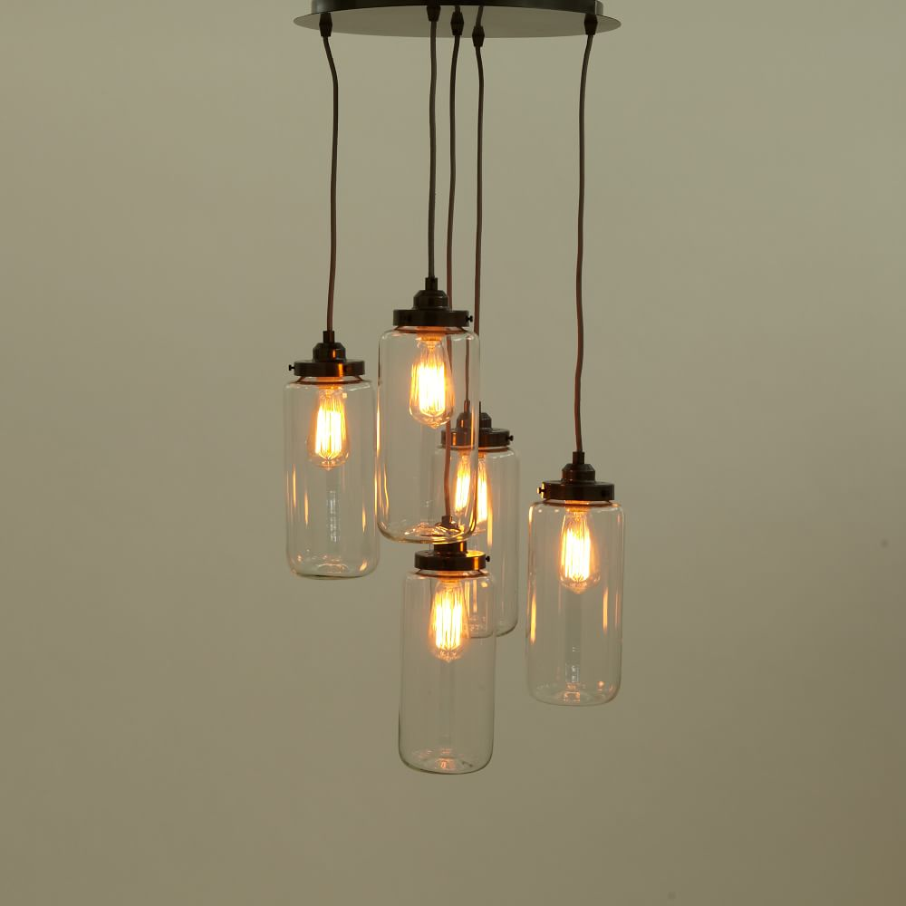 5 jar chandelier west elm uk. Black Bedroom Furniture Sets. Home Design Ideas