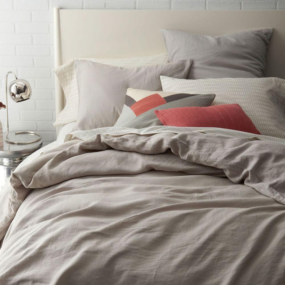 belgian flax linen duvet cover pillowcases platinum. Black Bedroom Furniture Sets. Home Design Ideas