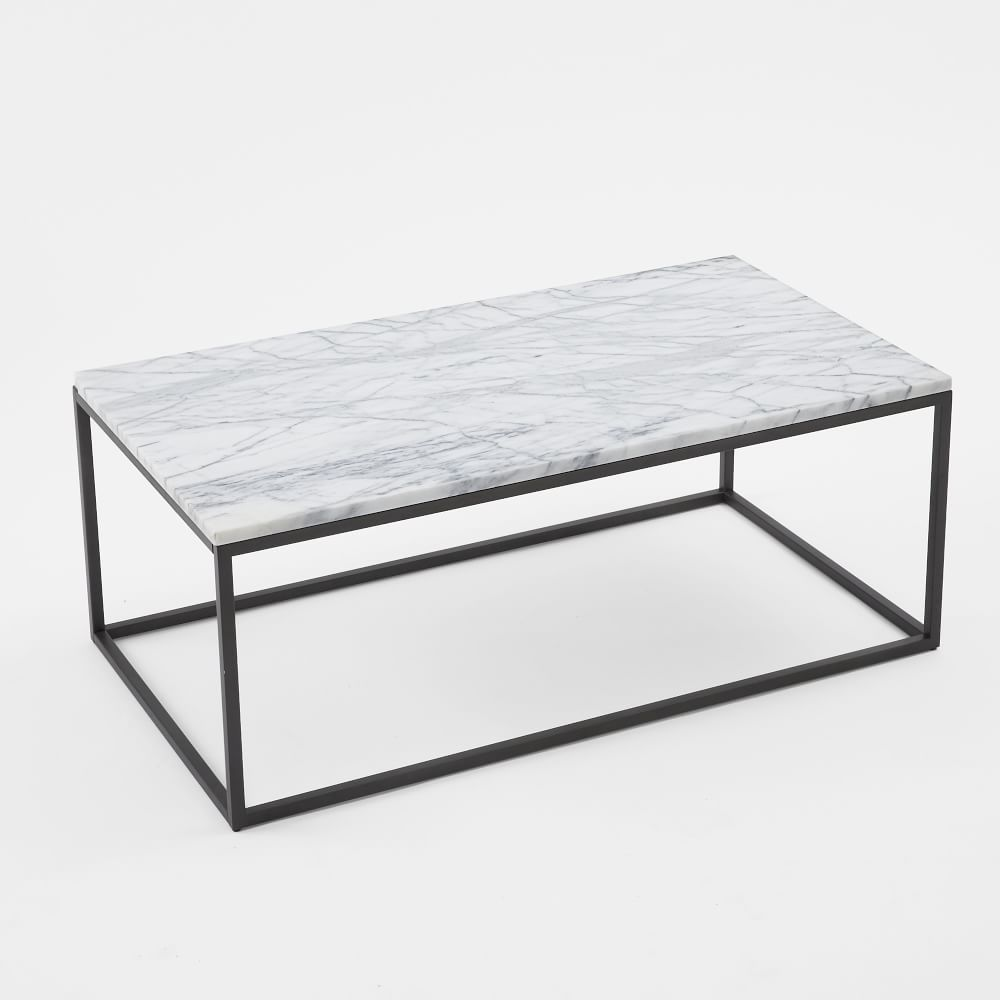 box frame coffee table marble - Metal Frame Coffee Table