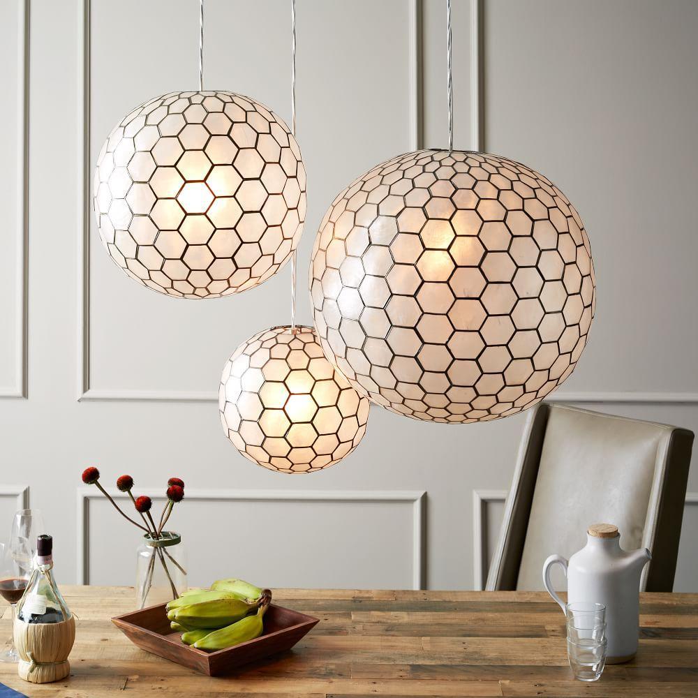 Capiz Orb Ceiling Lamps