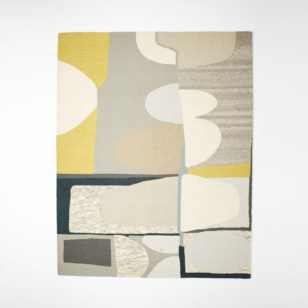 Christopher Wynter Art Rug Ivory: Christopher Wynter Abstract Wool Rug