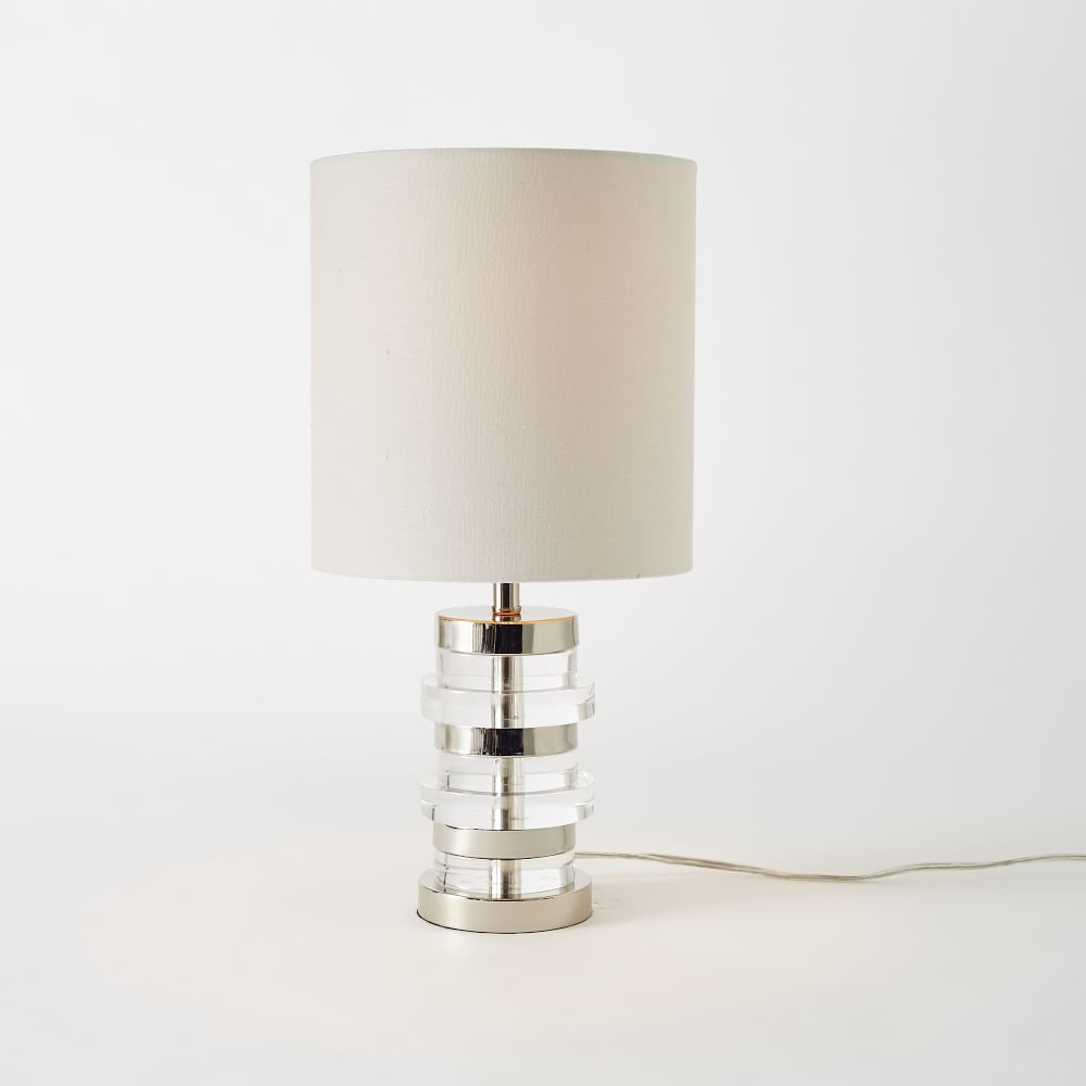 Clear disc table lamp small west elm uk clear disc table lamp small aloadofball Gallery
