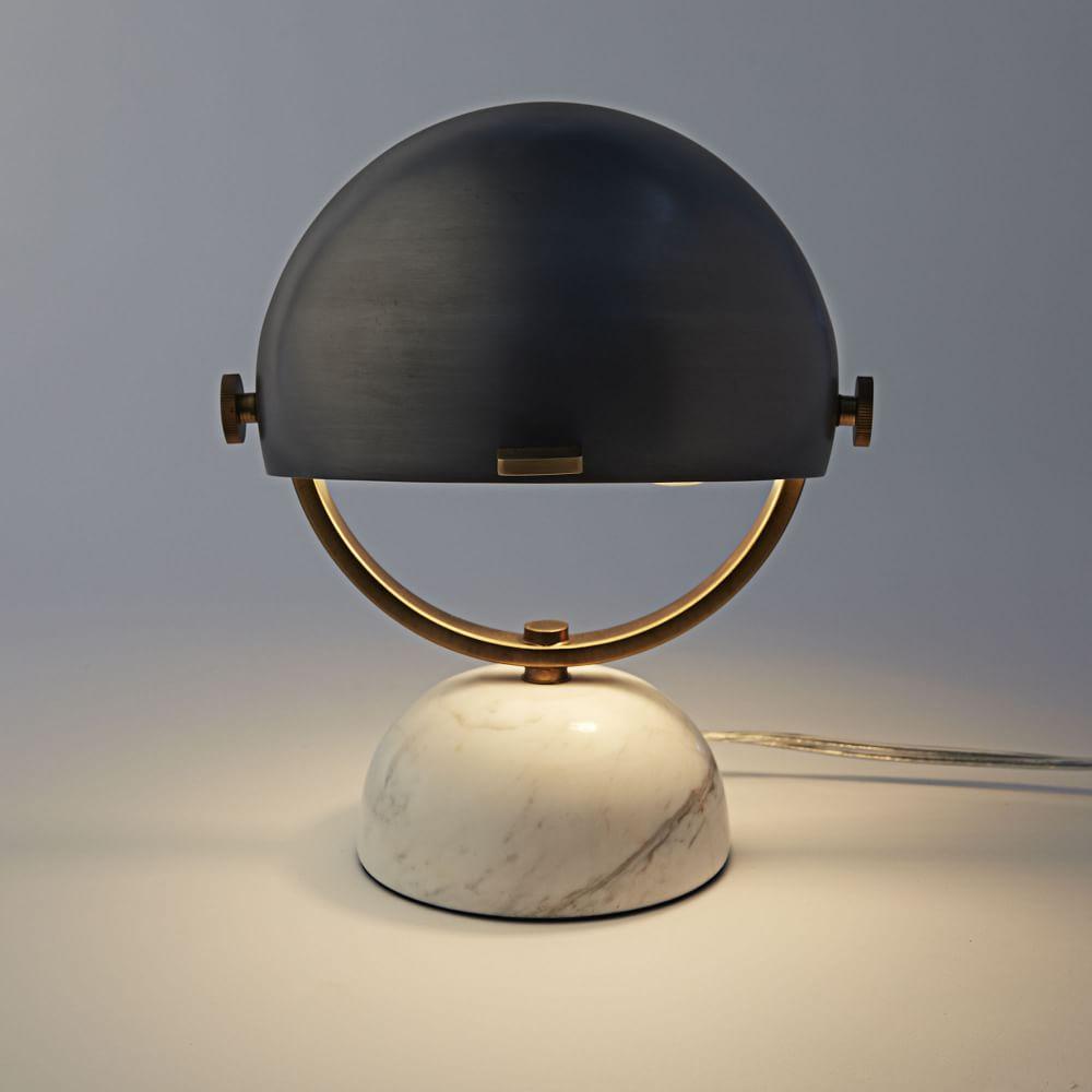 Clint mini task lamp marble black west elm uk - Mini table de chevet ...