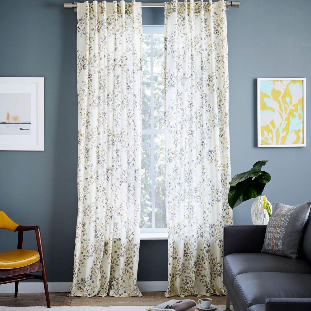 Cotton Canvas Black Eyelet Lined Curtain: Modern Furniture, Home Decor & Home Accessories
