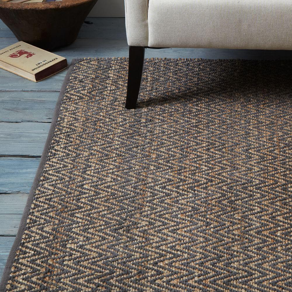 Jute chenille herringbone rug natural slate west elm uk - How to make a wool accent rug work for your space ...