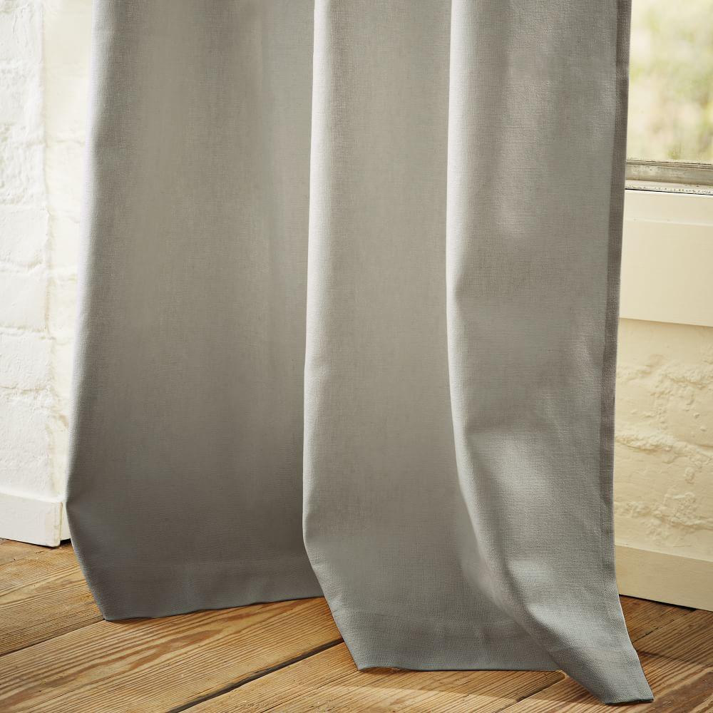 Linen Cotton Curtain Blackout Panel Platinum West Elm Uk