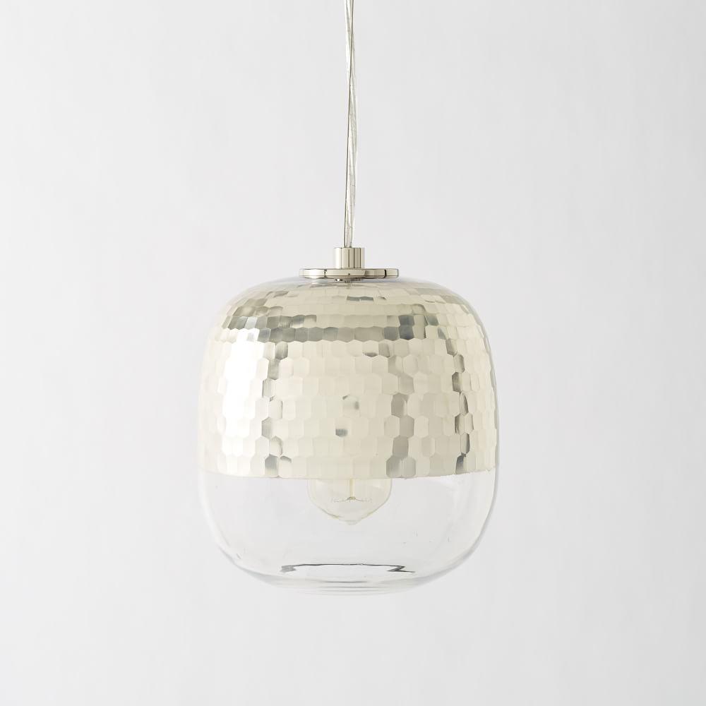 Honeycomb Pendant Light: Metallic Honeycomb Glass Ceiling Lamp