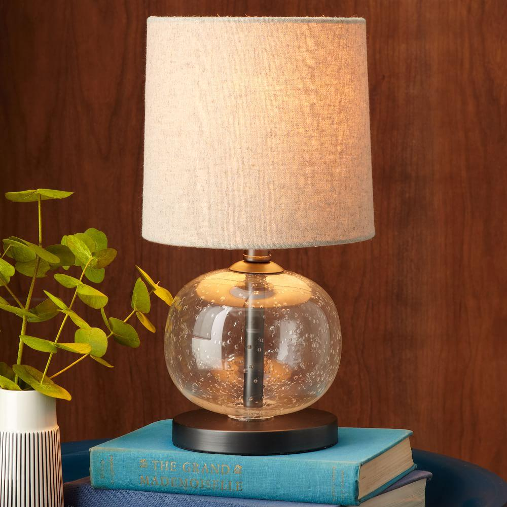 Mini Abacus Table Lamp Clear West Elm Uk