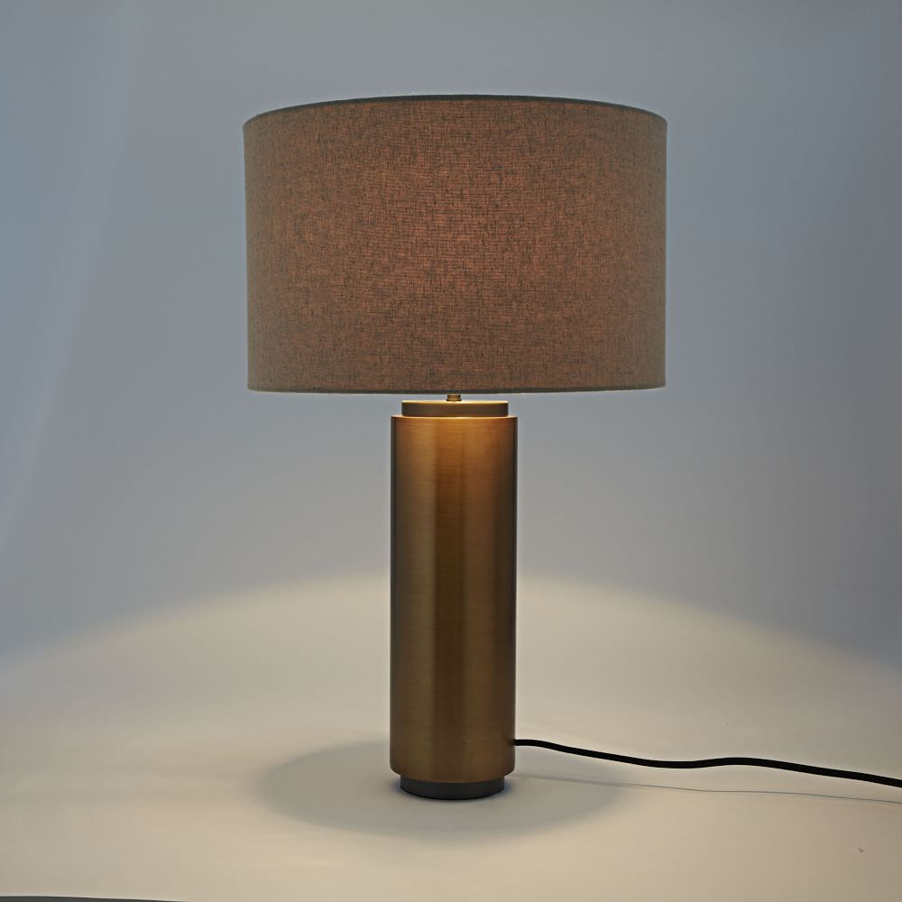 Pillar Table Lamp Antique Brass West Elm Uk