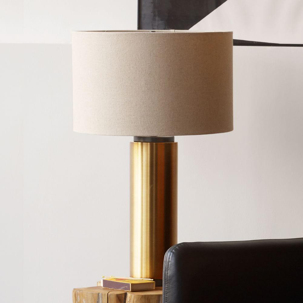 Pillar Table Lamp - Antique Brass