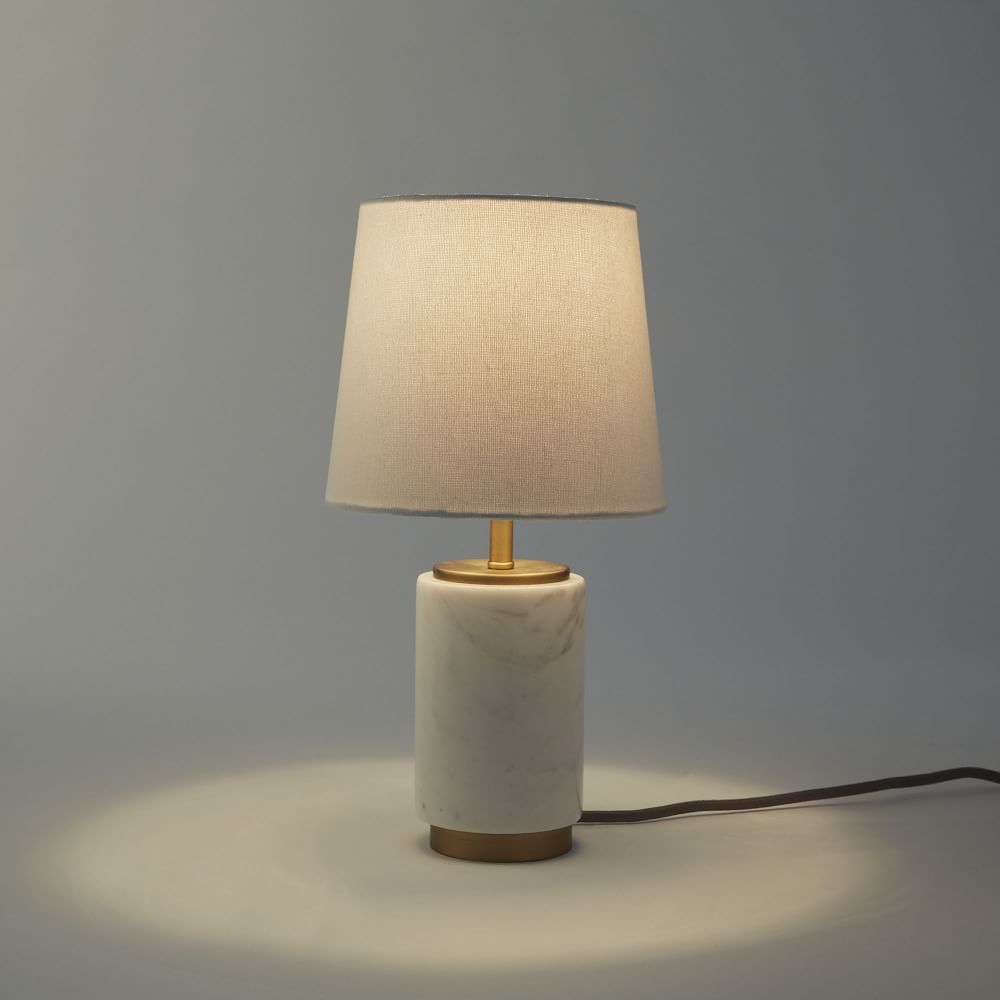 Small Pillar Table Lamp Marble West Elm Uk