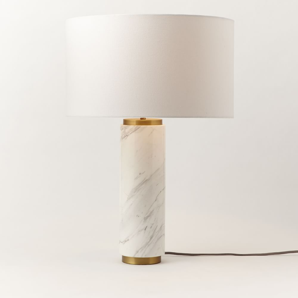 Pillar Table Lamp Marble West Elm Uk