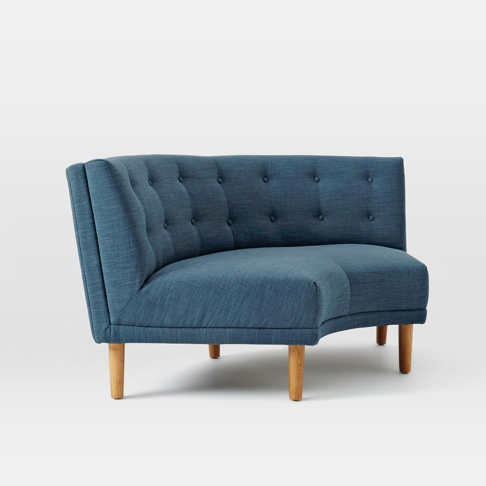 Rounded retro curved sofa west elm uk Retro loveseats