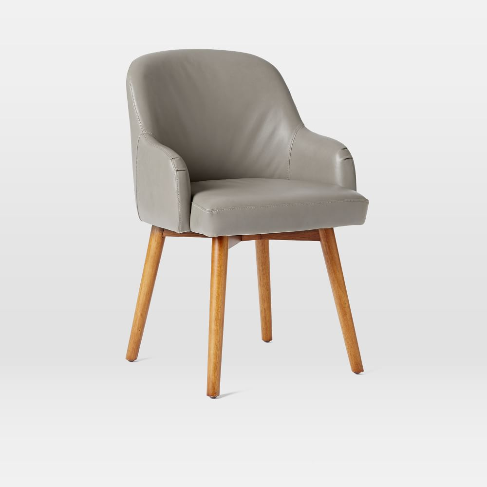 A Shapely Swivel Seat Inspired By Mid Century Design Our: Saddle Office Chair
