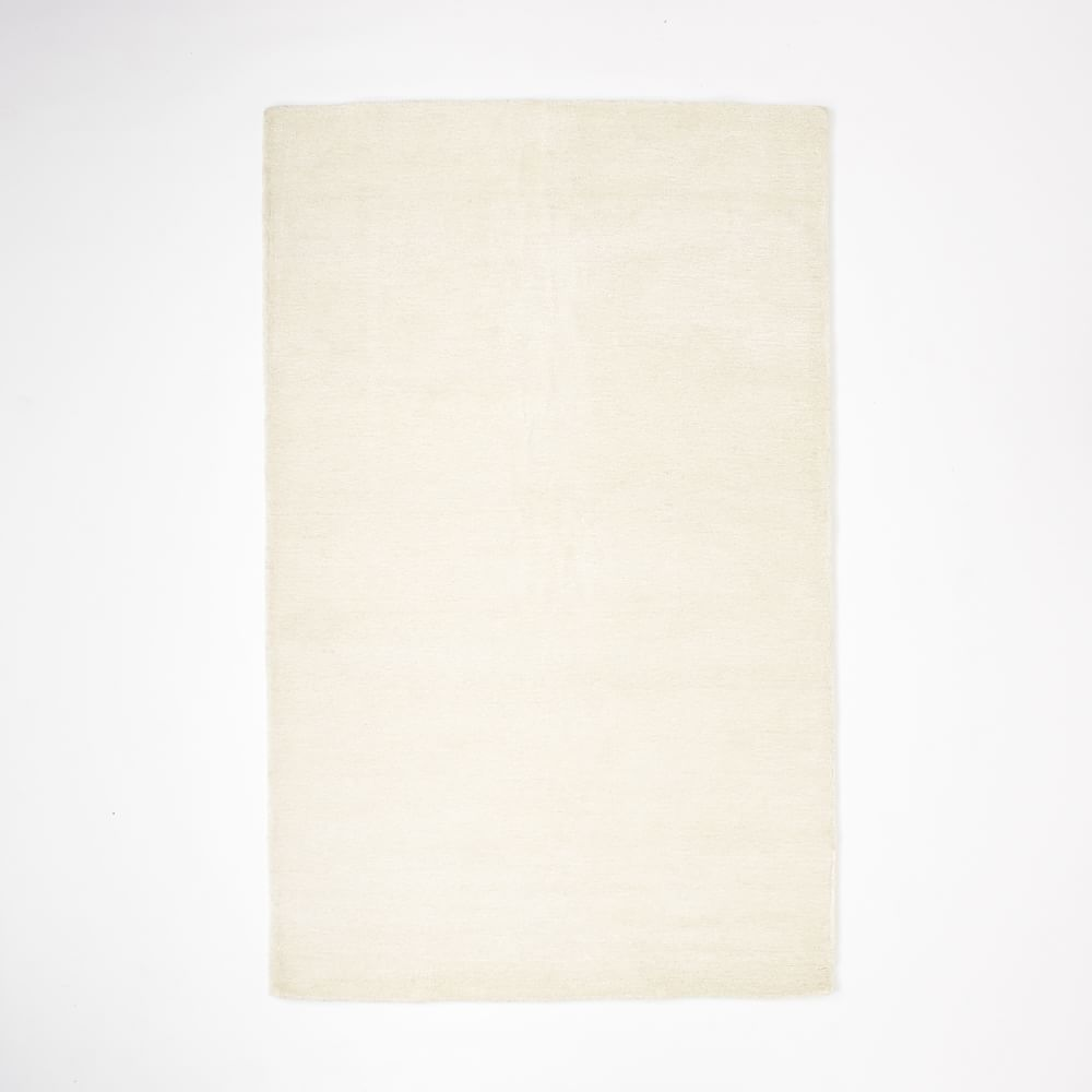 Christopher Wynter Art Rug Ivory: Watercolour Solid Rug