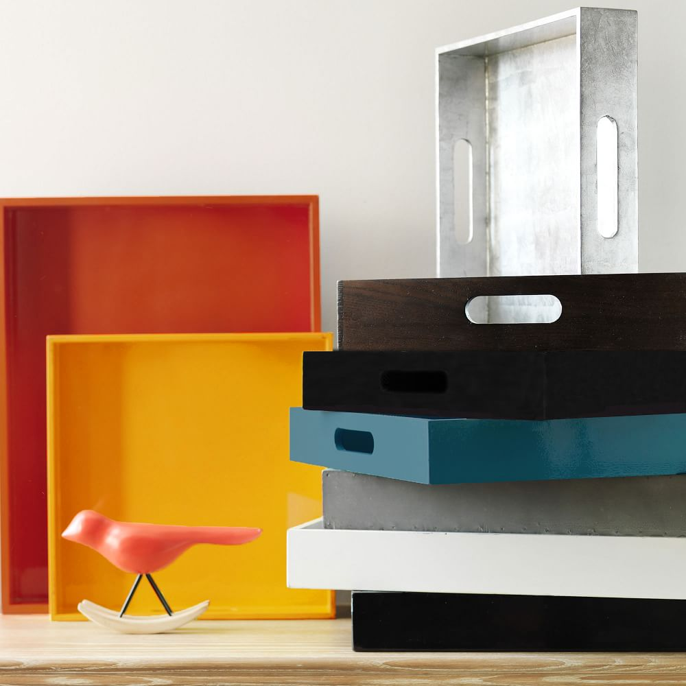 Square Lacquer Trays West Elm Uk