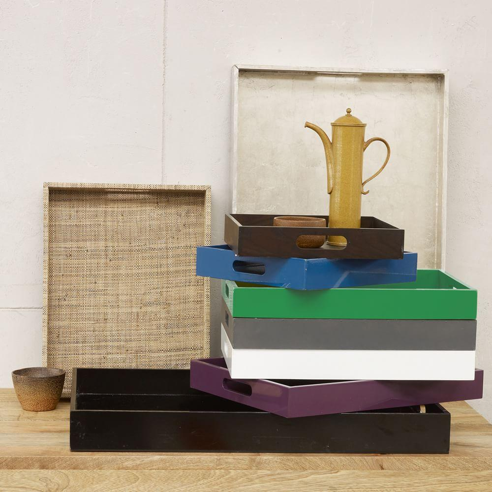 Lacquer Storage Coffee Table West Elm: Square Lacquer Trays