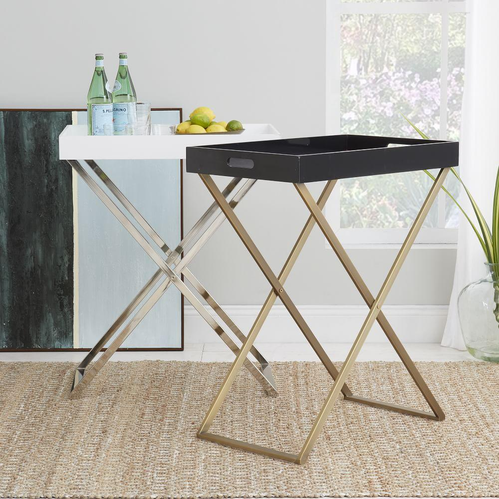 Tall butler tray stand west elm uk for Stand pub