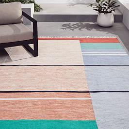 Offset Ombre Indoor/Outdoor Rug