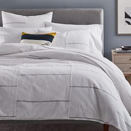 Broken Lines Belgian Flax Linen Cotton Duvet Cover + Pillowcases