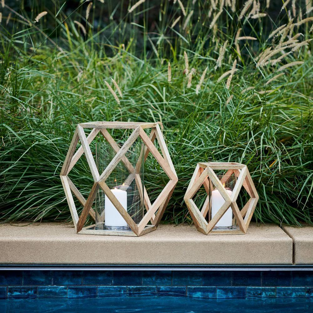 Angular Wood Lanterns