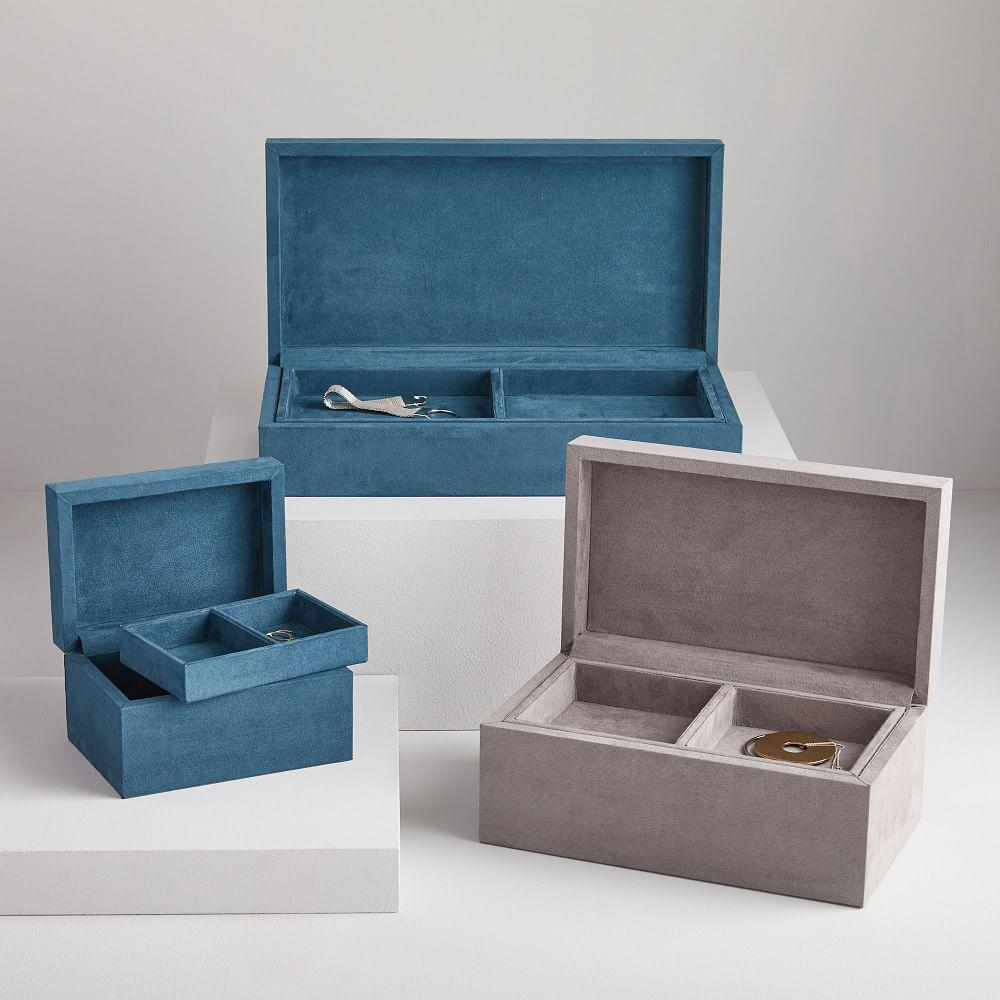 Faux Suede Decorative Boxes