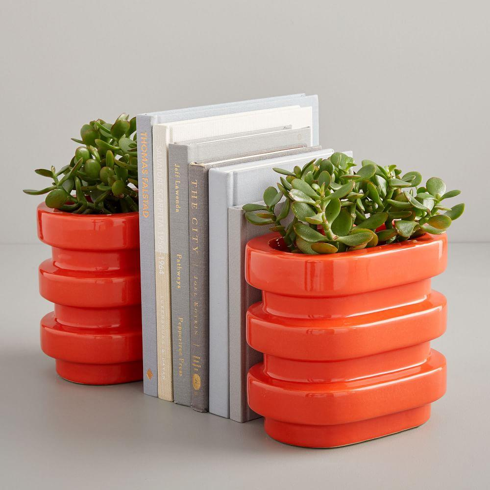 Layered Bookend Planters