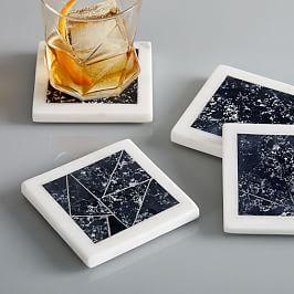 Marble Border Coasters (Set of 4)