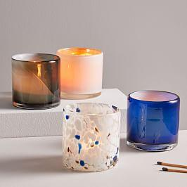 Mixed Pattern Glass Votives