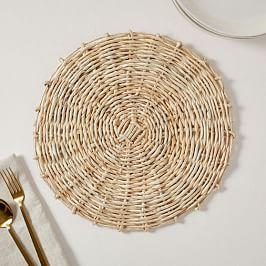 Natural Spun Woven Placemats (Set of 2)