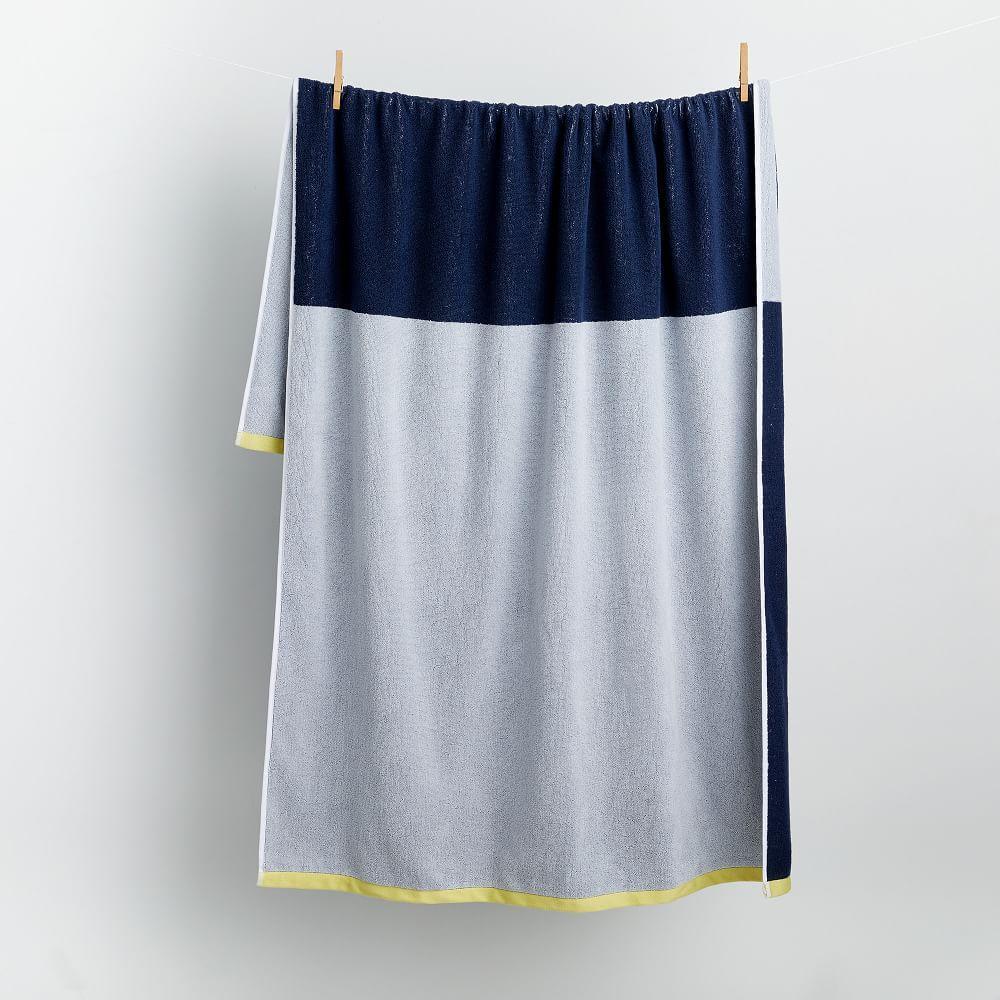 Organic Colourblock Beach Towel
