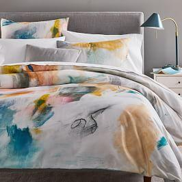 Organic Sateen Asha Duvet Cover + Pillowcases