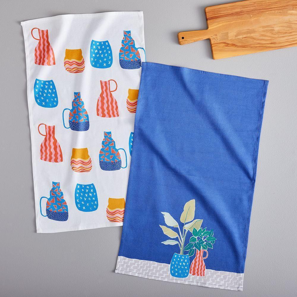 Painted Planters Tea Towels (Set of 2)