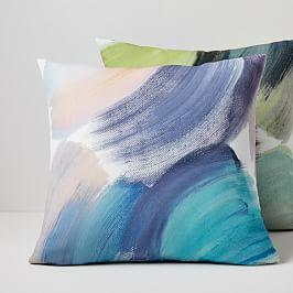 Outdoor Sweeping Brushstrokes Cushions