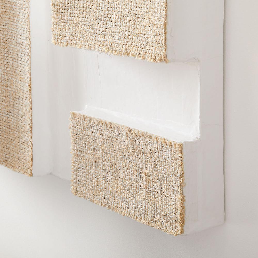 Papier-Mache Sculptural Wall Art - White