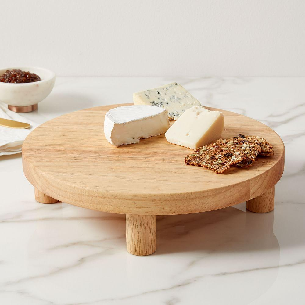 Pedestal Wood Cheese Stand