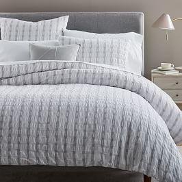 Plaid Seersucker Duvet Cover + Pillowcases